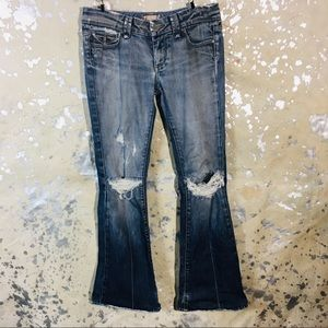 Paige petite ripped worn jeans boot cut  Size 28